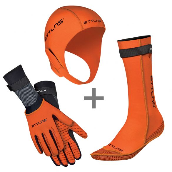 BTTLNS Neopreen accessoires voordeelset oranje  0120010+0120011+0120012-034