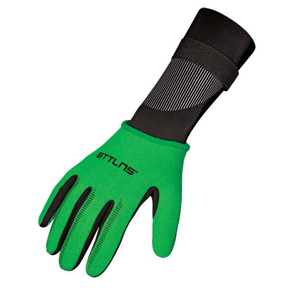 BTTLNS Neopreen zwemhandschoenen Boreas 1.0 groen  0120012-040