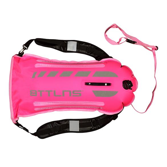 BTTLNS Saferswimmer veiligheid verlichte zwemboei Scamander 2.0 roze  0520003-072