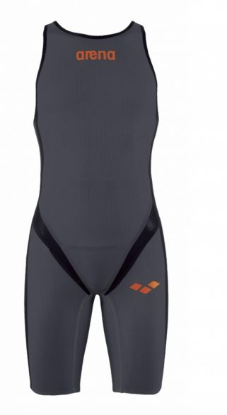 Arena Carbon pro rear zip mouwloos trisuit donkergrijs heren  AR1A565-35