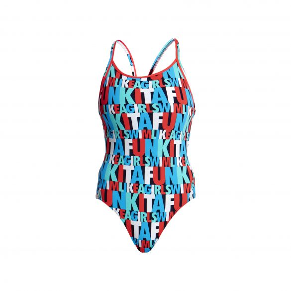 Funkita Swim squad diamond back badpak dames  FS11L02076