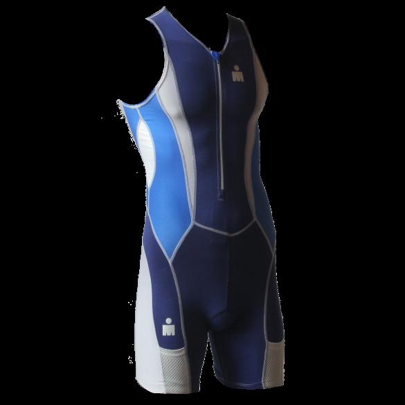 Ironman trisuit front zip mouwloos Speedflo blauw heren  IM39441-50