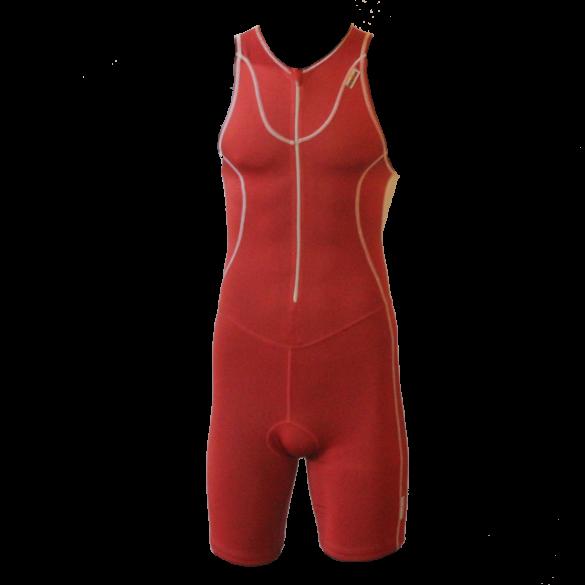 Ironman trisuit front zip mouwloos Speedflo rood/zilver heren  IM4000-05/10