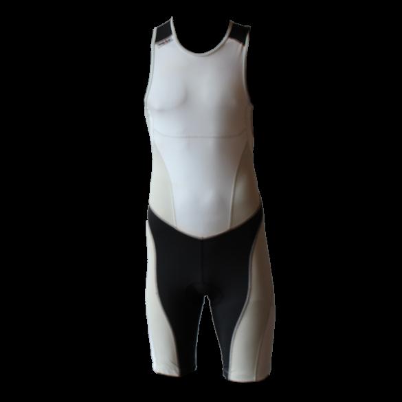 Ironman trisuit back zip mouwloos extreme suit wit/grijs heren  IM7500-03/10