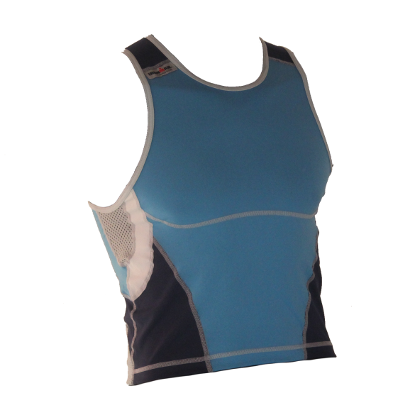 Ironman tri top mouwloos new olympic blauw heren  IM8503-50/41
