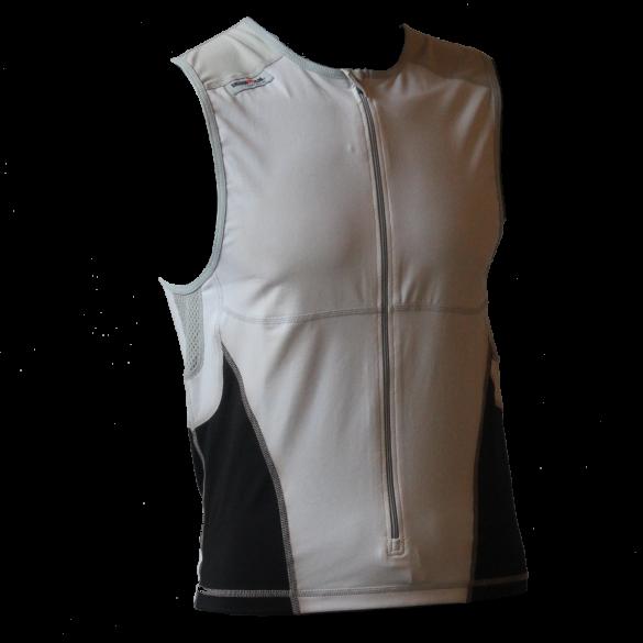 Ironman tri top front zip mouwloos bodysuit wit/zwart heren  IM8504-03/15