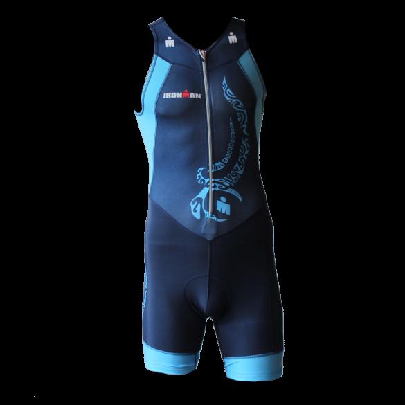 Ironman trisuit front zip mouwloos multisport tattoo blauw heren  IM8902-41/50