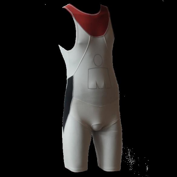 Ironman trisuit back zip mouwloos Aero wit/rood heren  IMA500-03/05