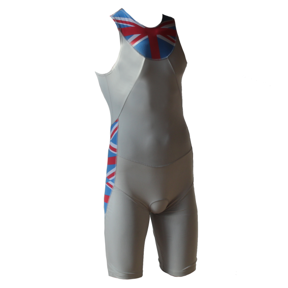 Ironman trisuit back zip mouwloos Aero wit/ENG heren  IMA500-03/ENG