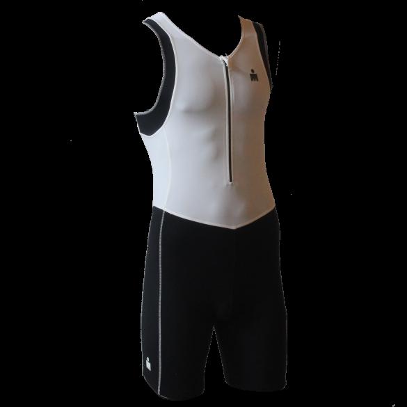 Ironman trisuit front zip mouwloos B9 wit/zwart heren  IMB950-03/15