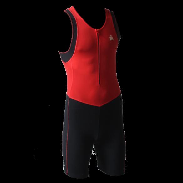 Ironman trisuit front zip mouwloos B9 rood/zwart heren  IMB950-05/15