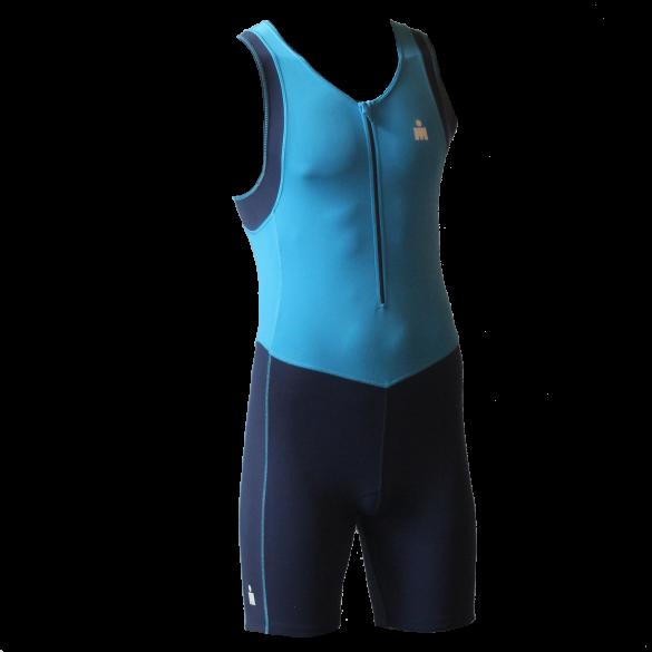Ironman trisuit front zip mouwloos B9 blauw heren  IMB950-50/41