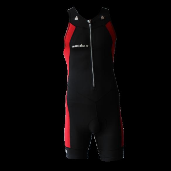 Ironman trisuit front zip mouwloos multisport zwart/rood heren  IMT502-15/05
