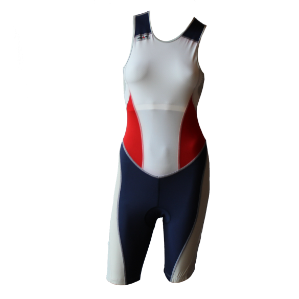 Ironman trisuit back zip mouwloos extreme suit wit/blauw/rood dames  IMW7517-03/05/41