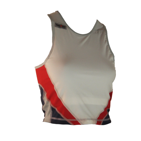 Ironman tri top mouwloos extreme wit/rood/blauw dames  IMW7543-03/05/41