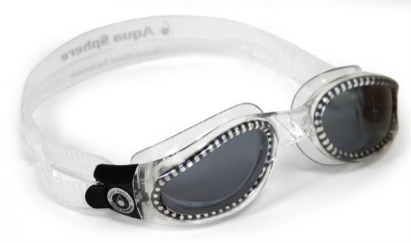 Aqua Sphere Kaiman donkere lens zwembril zilver  AS171110