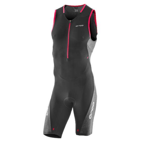 Orca 226 Perform race mouwloos trisuit zwart/rood heren  JVD087