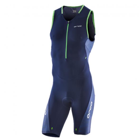 Orca 226 Perform race mouwloos trisuit blauw/groen heren  JVD088