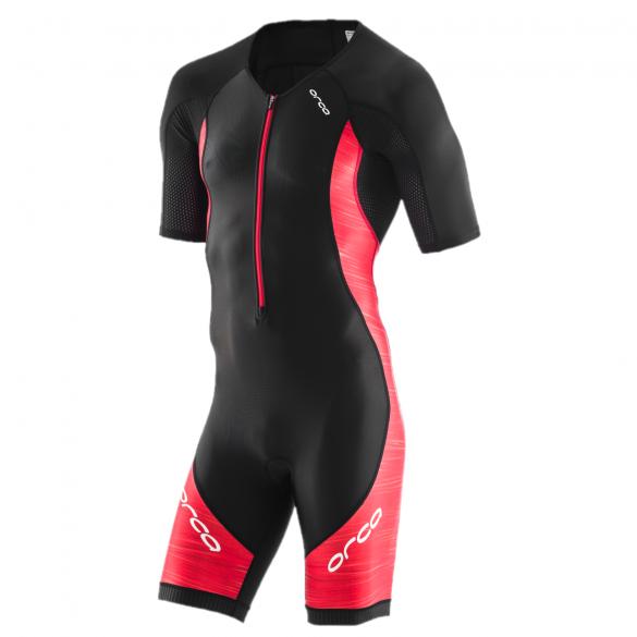 Orca Core race korte mouw trisuit zwart/rood heren  JVC615