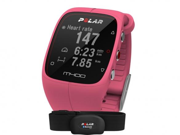 Polar M400 HRM sporthorloge met GPS roze  90057193
