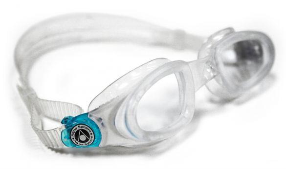 Aqua Sphere Mako transparante lens zwembril silver  AS169460