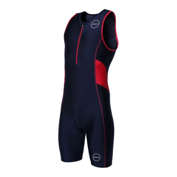 Zone3 Activate mouwloos trisuit zwart/rood heren  TS18MACT108VRR