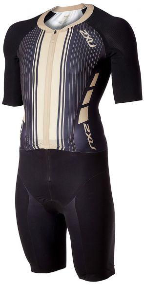 2XU Project X korte mouw trisuit zwart/goud heren  MT4834d-BLK/GDG