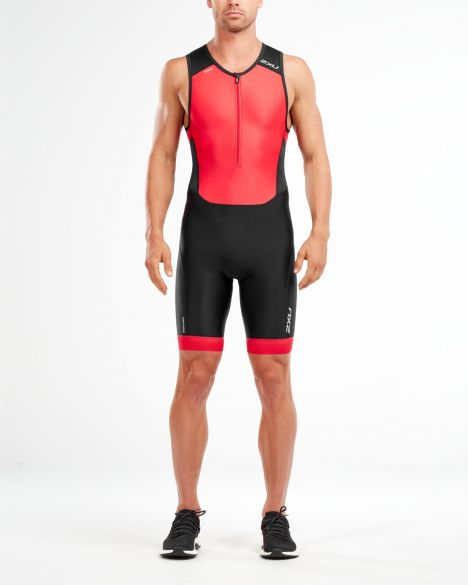 2XU Perform mouwloos trisuit zwart/rood heren  MT4848d-BLK/TRD