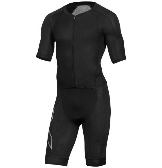 2XU Compression korte mouw trisuit zwart heren  MT5516d-BLK/BLK