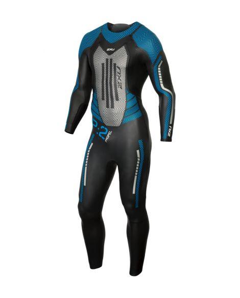 2XU P:2 Propel lange mouw wetsuit zwart/blauw heren  MW4990c-BLK/DRB