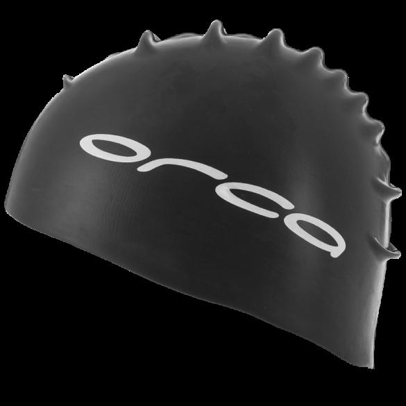 Orca Siliconen badmuts swim cap zwart  DVA001