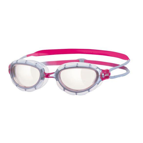 Zoggs Predator transparante lens zwembril roze  310870