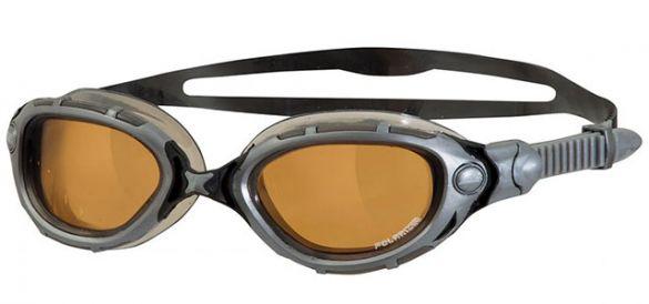 Zoggs Predator flex polarized ultra zwembril zilver  322847