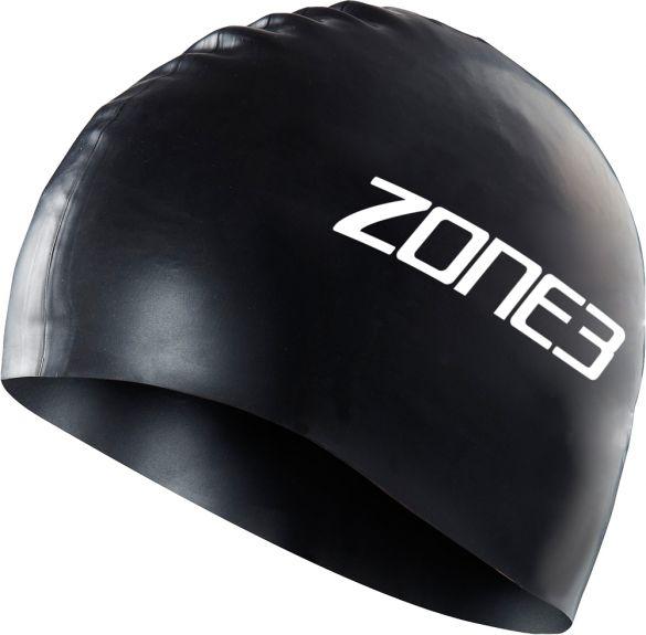 Zone3 Silicone swim cap zwart  SA18SCAP101