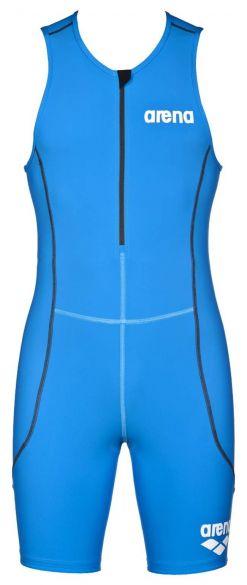 Arena ST front zip mouwloos trisuit blauw heren  AR1A918-88