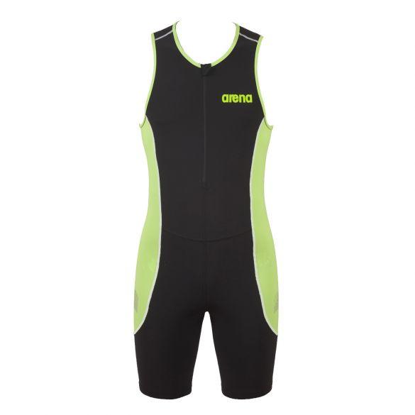 Arena ST front zip mouwloos trisuit zwart/groen heren  AR25052-56