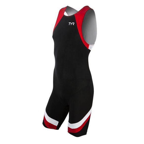 TYR Carbon backzip trisuit zwart/rood heren  TMZNJB6A-002