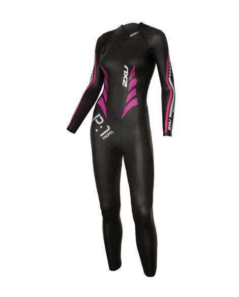 2XU P:1 Propel lange mouw wetsuit zwart/roze dames  WW4994c-BLK/PPK