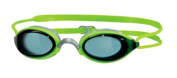 Zoggs Fusion air donkere lens zwembril groen  302755