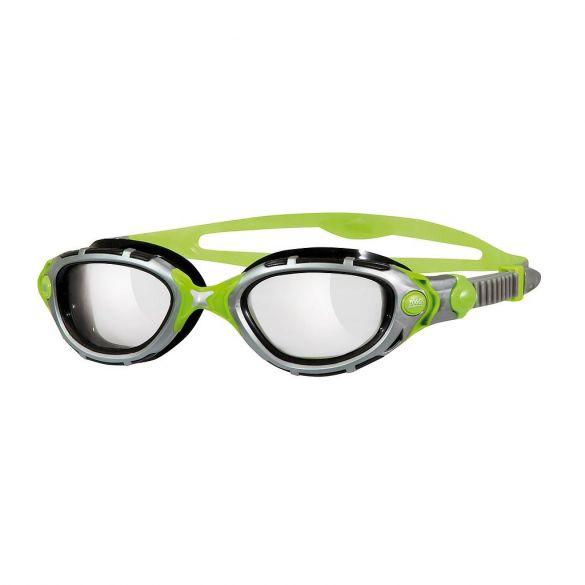Zoggs Predator Flex Reactor Titanium zwembril grijs/groen  311846
