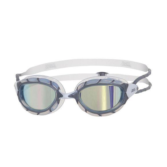 Zoggs Predator zwembril grijs/wit - spiegellens  326863