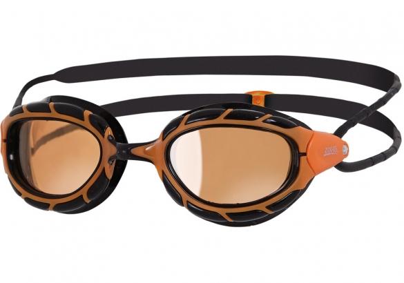 Zoggs Predator polarized ultra zwembril zwart oranje  302766