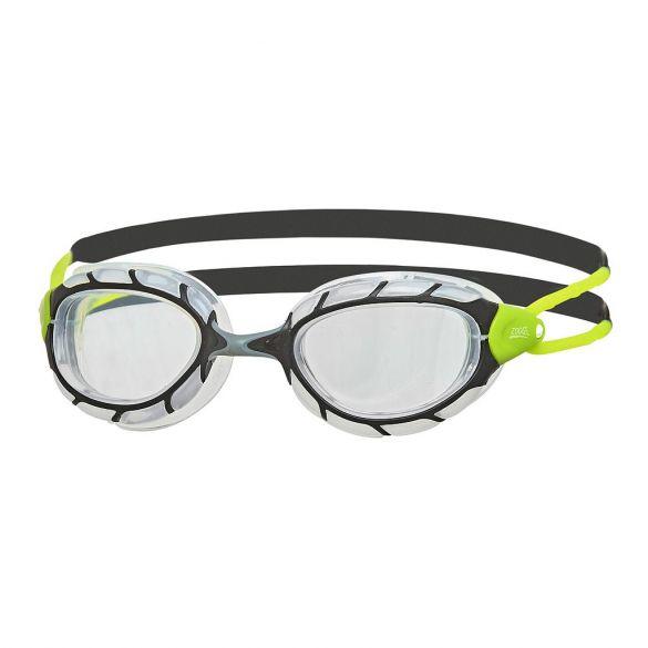 Zoggs Predator transparante lens zwembril zwart/groen  334863