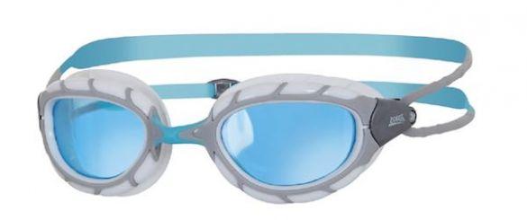 Zoggs Predator blauwe lens zwembril grijs/wit  327863
