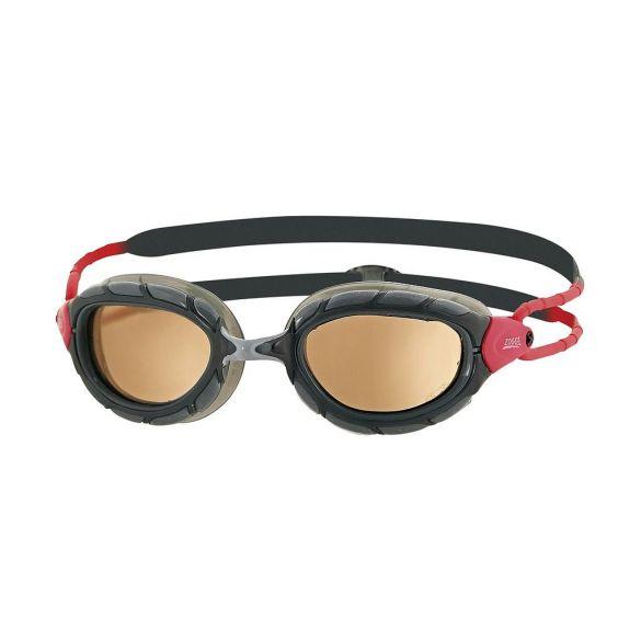 Zoggs Predator polarized ultra zwembril zwart/rood  301766