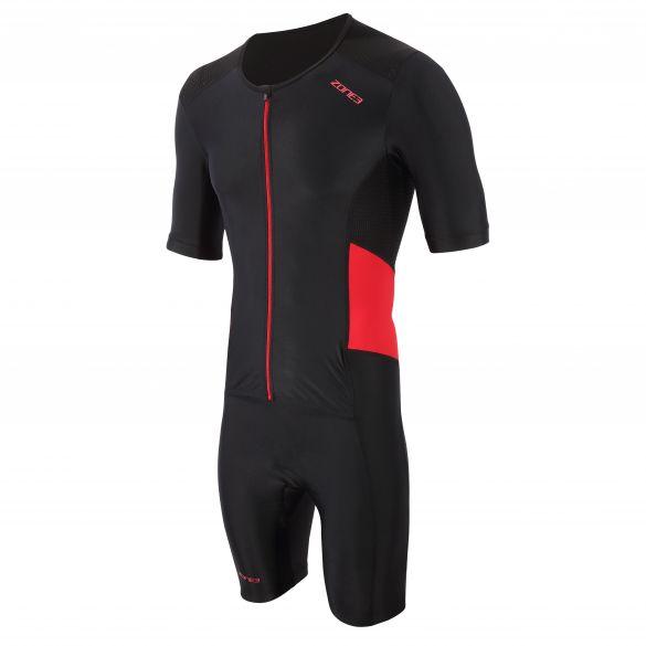 Zone3 Activate trisuit korte mouw zwart/rood heren  TS21MACTS108