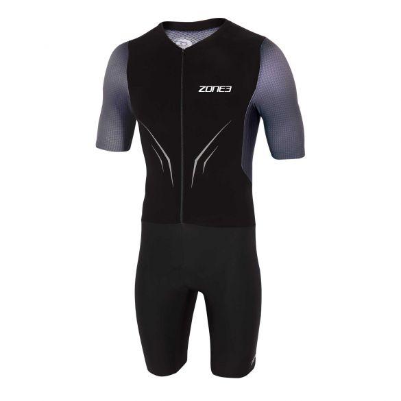 Zone3 Aeroforce X korte mouw trisuit zwart/grijs heren  TS20MAFS101