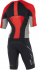 2XU Compression full zip trisuit sleeved zwart/rood/grijs heren  MT4442dFSC/FRG