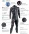Sailfish Attack fullsleeve wetsuit heren  SL2140